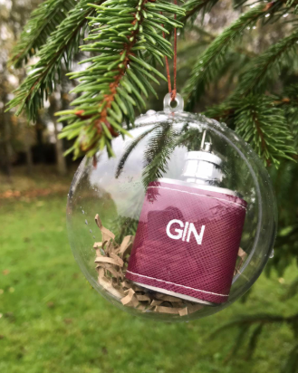 Hip Flask Bauble
