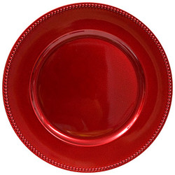 Red with Beaded Rim
