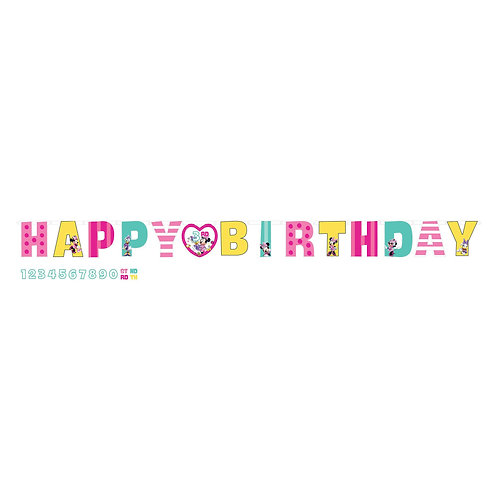 ©Disney Minnie Mouse Happy Helpers Jumbo Add-An-Age Letter Banner