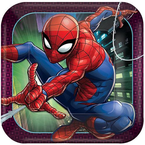 "Spider-Man™ Webbed Wonder 9"" Square Plates"