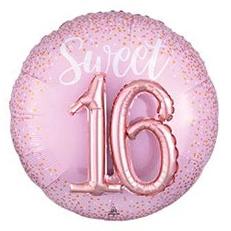 """27"""" Sweet 16 Round 3D Balloon"""