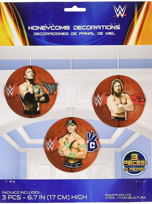 WWE Wrestling Honeycomb Decor Kit