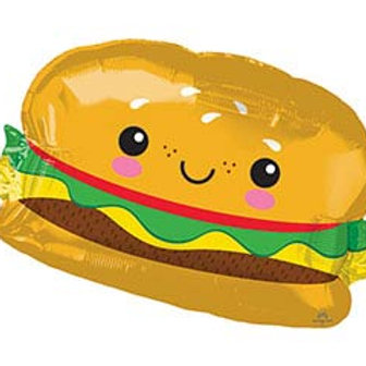 "26"" Happy Hamburger Balloon"