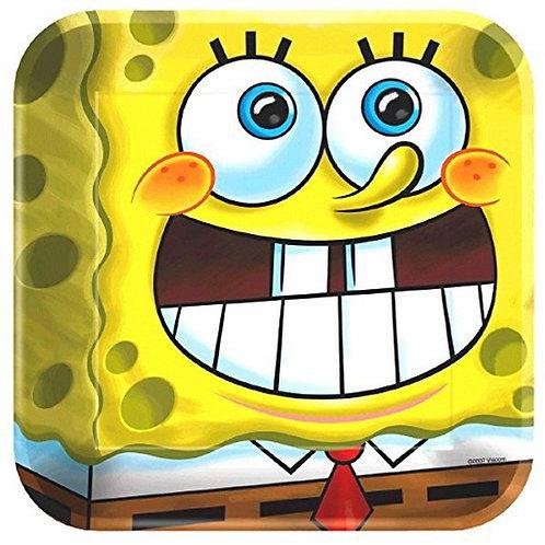 "Spongebob Squarepants 9"" Square Plates"