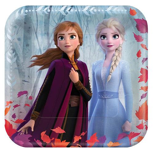 """Frozen 9"""" Square Plates"""