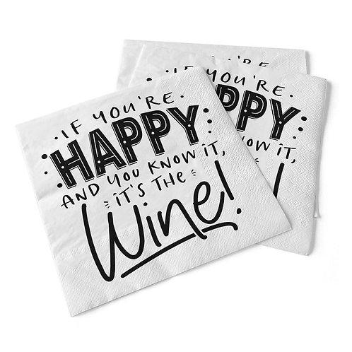 If You're Happy | Beverage Napkins