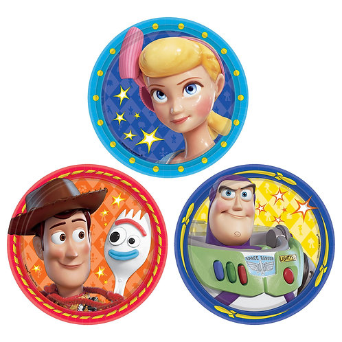 """Toy Story 7"""" Round Paper Plates"""