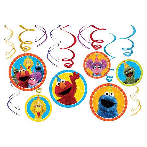 Sesame Street® Value Pack Foil Swirl Decorations