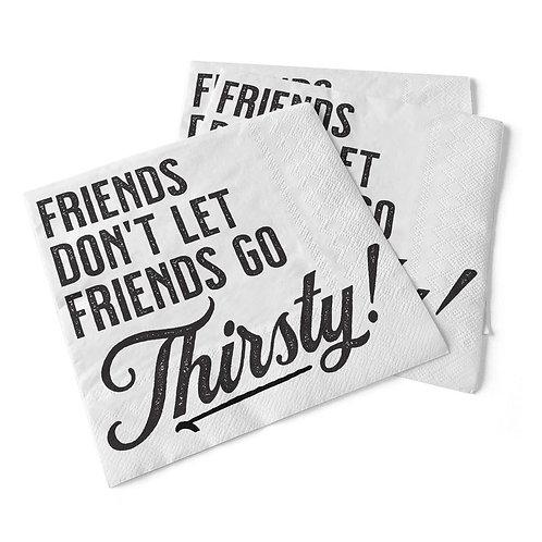 Friends Don't Let Friends | Beverage Napkins