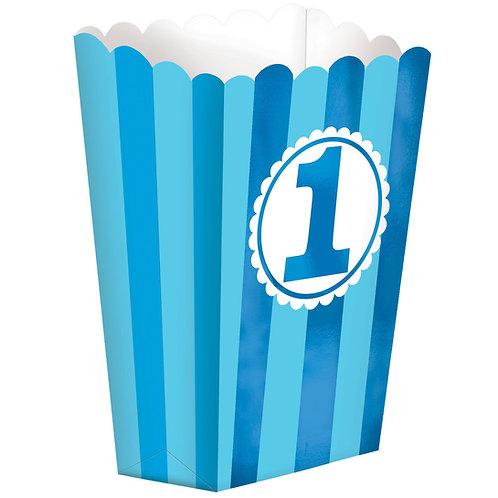 1st Birthday Popcorn Shaped Favor Box (Small)