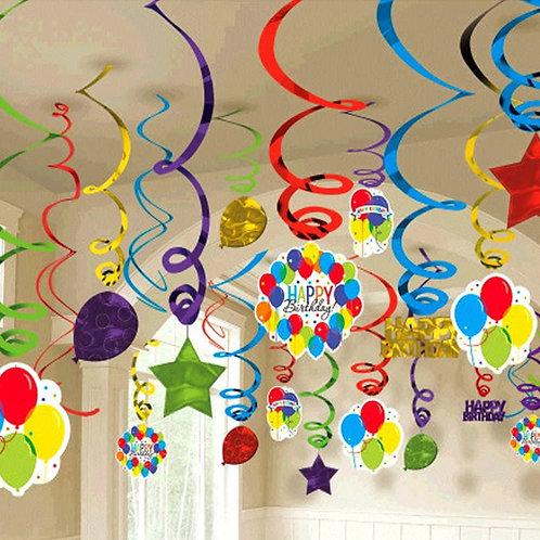 Balloon Bash Swirl Decorations - Mega Pack