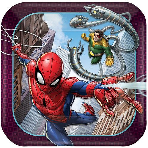"Spider-Man™ Webbed Wonder 7"" Square Plates"