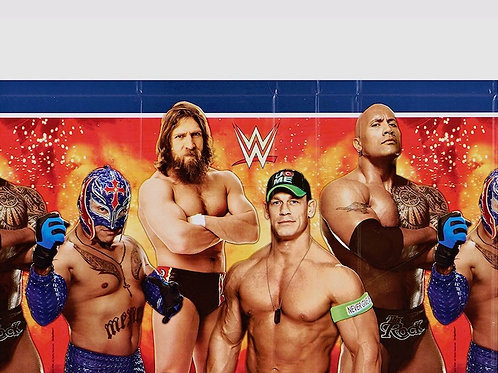 WWE Wrestling Plastic Table Cover