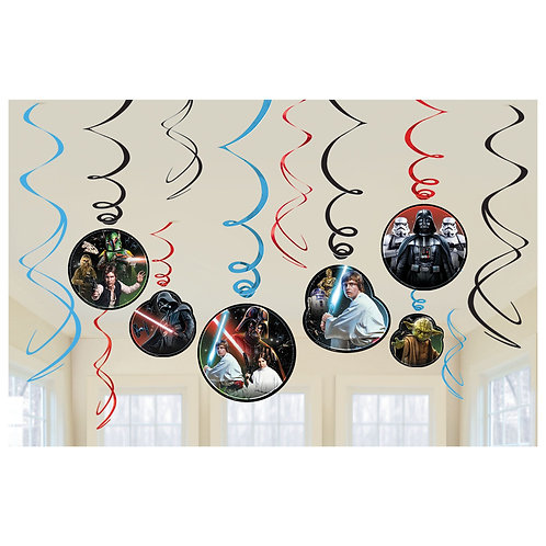 Star Wars™ Classic Value Pack Foil Swirl Decorations
