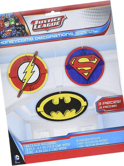 Justice League™ Honeycomb Decor Kit