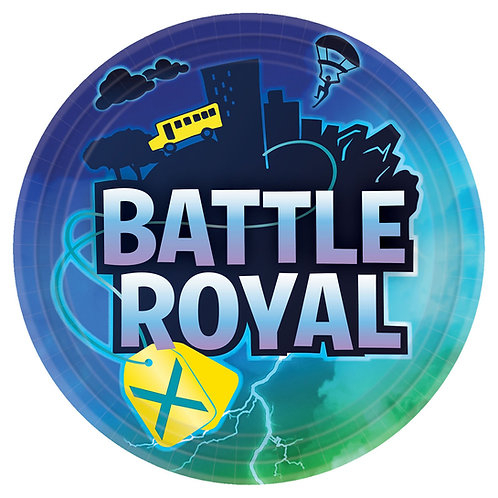 "Battle Royal 9"" Round Plates"