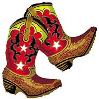 "36"" Cowboy Boots Balloons"