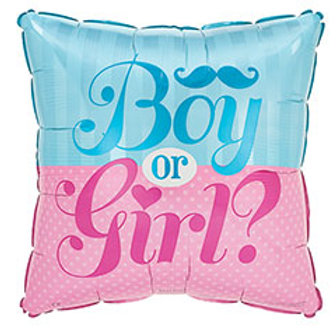 """17"""" Square Gender Reveal Balloon"""
