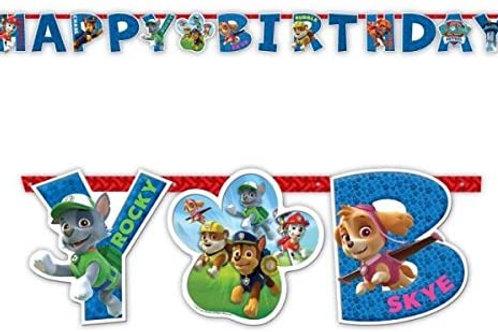 "Paw Patrol Jumbo Add-An-Age ""Happy Birthday"" Banner"