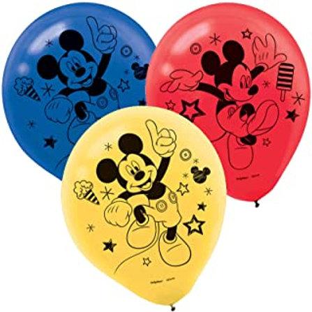 "©Disney Mickey on the Go 12"" Latex Balloons"