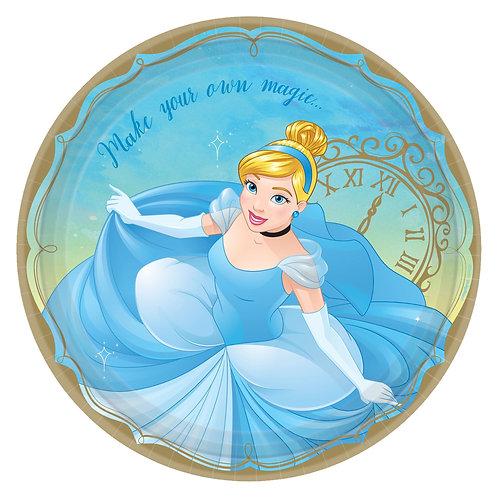 "©Disney Princess Cinderella 9"" Plates"