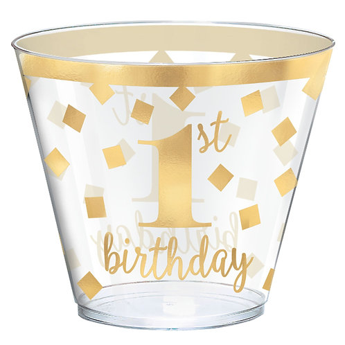 1st Birthday Gold Hot Stamped 9oz. Tumblers