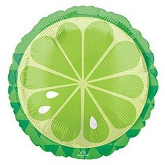 "17"" Lime (Fruit) Slice Round Balloon"