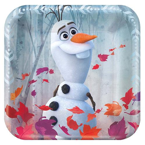 """Frozen 7"""" Square Plates"""