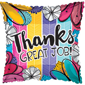 "17"" 'Thanks Great Job' Square Balloon"