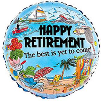 """17"""" Happy Retirement Round Balloon"""