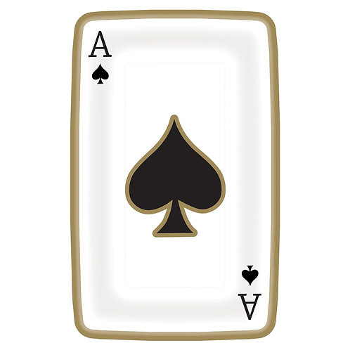 "Casino 9"" Playing Card Shaped Plates"