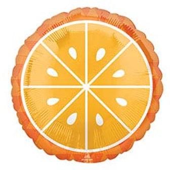 "17"" Orange (Fruit) Slice Round Balloon"