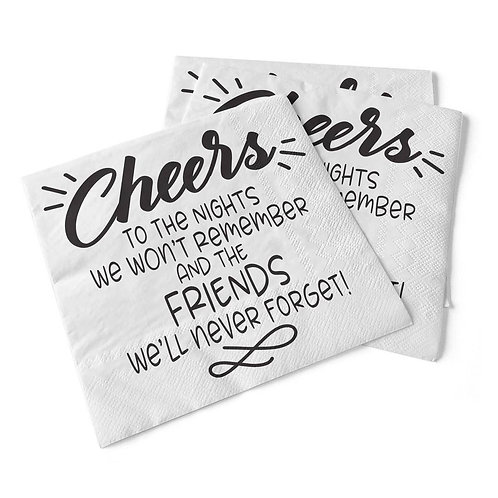 Cheers To The Nights | Beverage Napkins