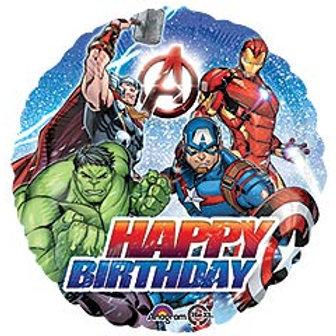 """17"""" HBD Avengers Balloon"""