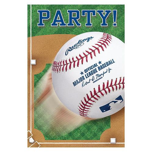 MLB Baseball Party Invitations