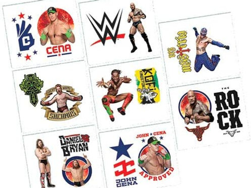 WWE Wrestling Tattoo Favors