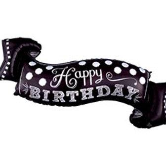 "40"" Happy Birthday Banner Balloon"