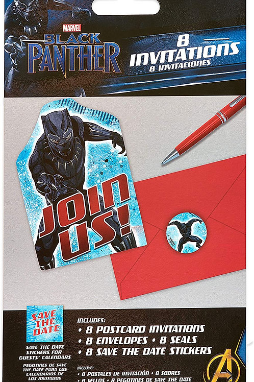 Black Panther Postcard Invitations