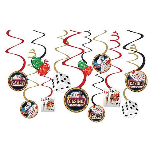 Casino Value Pack Foil Swirl Decoration