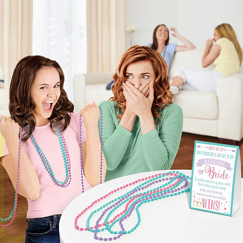 Don't Say Wedding Bead Necklace Bridal Shower Game