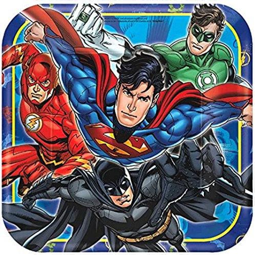 """Justice League™ 9"""" Square Plates"""