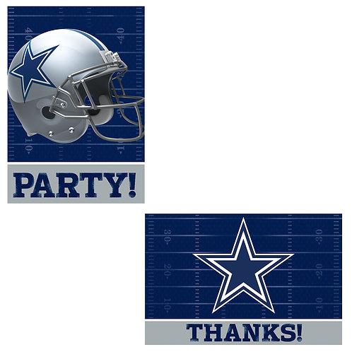 Dallas Cowboys Invitations & Thank You Postcards