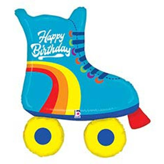 """39"""" HBD Roller Skate Balloon"""