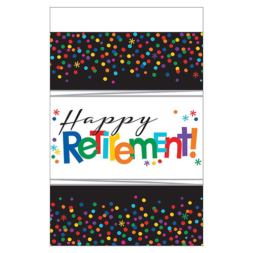 Officially Retired 'Happy Retirement' Table Cover