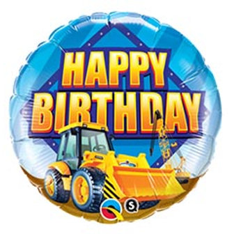 "18"" HBD Construction Balloon"