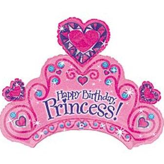 "34"" Holograph HBD Princess Balloon"