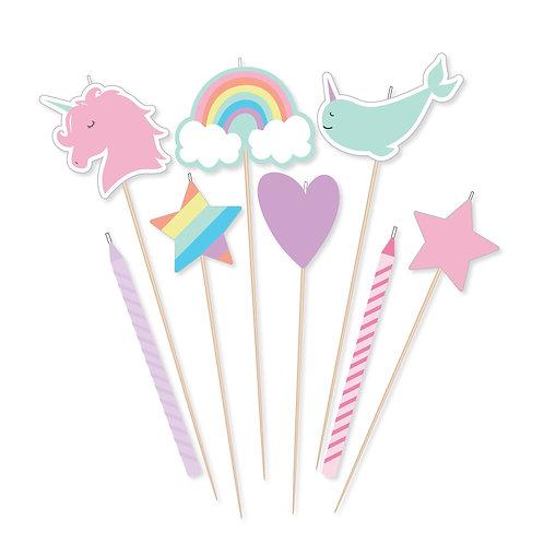 Magical Rainbow Birthday Candle Mix