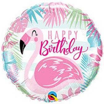 "18"" HBD Flamingo Balloon"