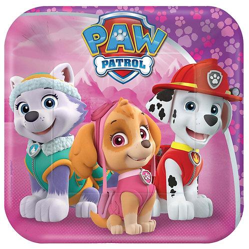 "Paw Patrol™ Girl 7"" Square Plates"