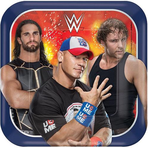 "WWE Wrestling 7"" Square Plates"